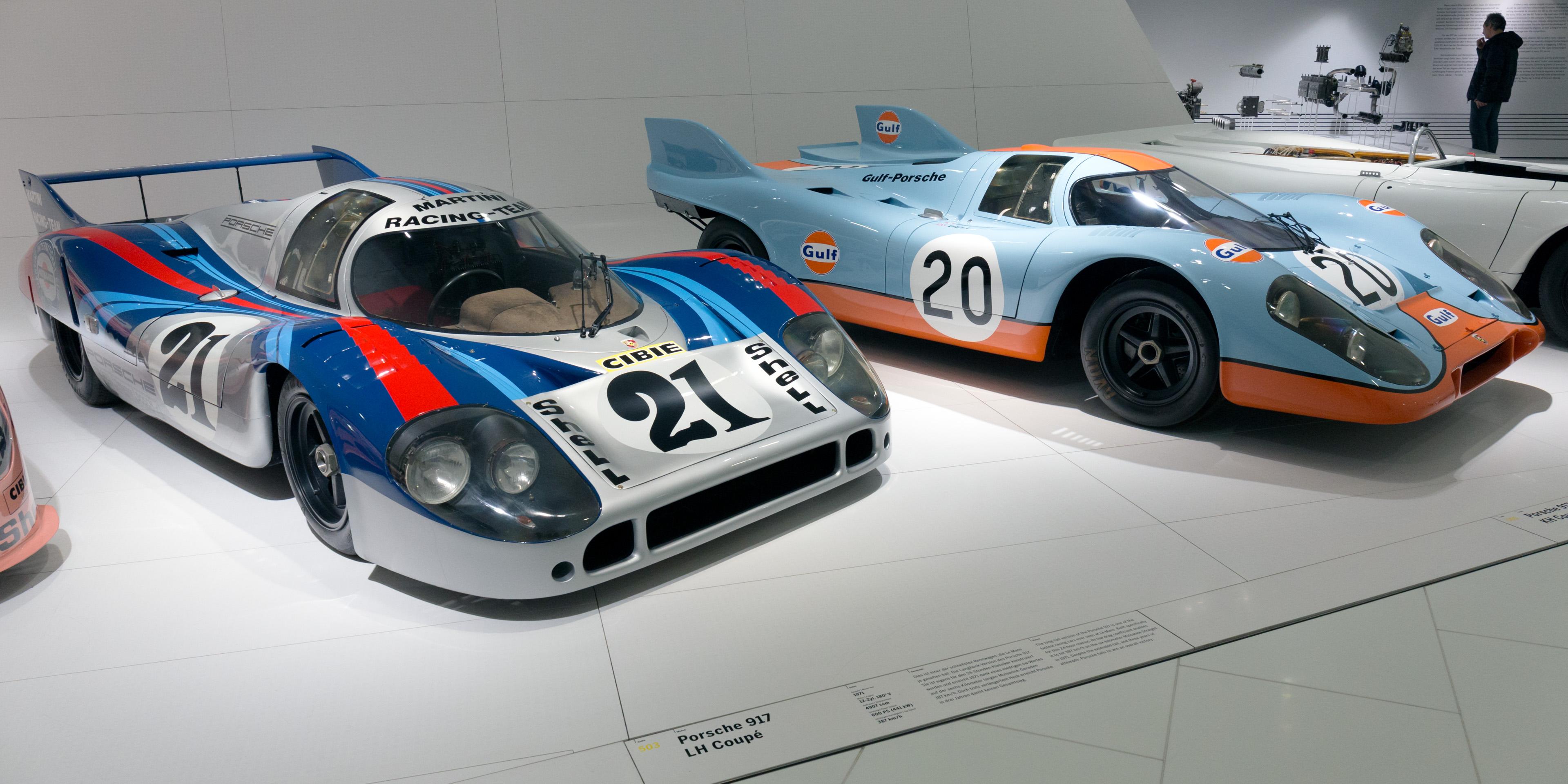 File Porsche 917lh And 917k Gulf Porsche Museum Jpg