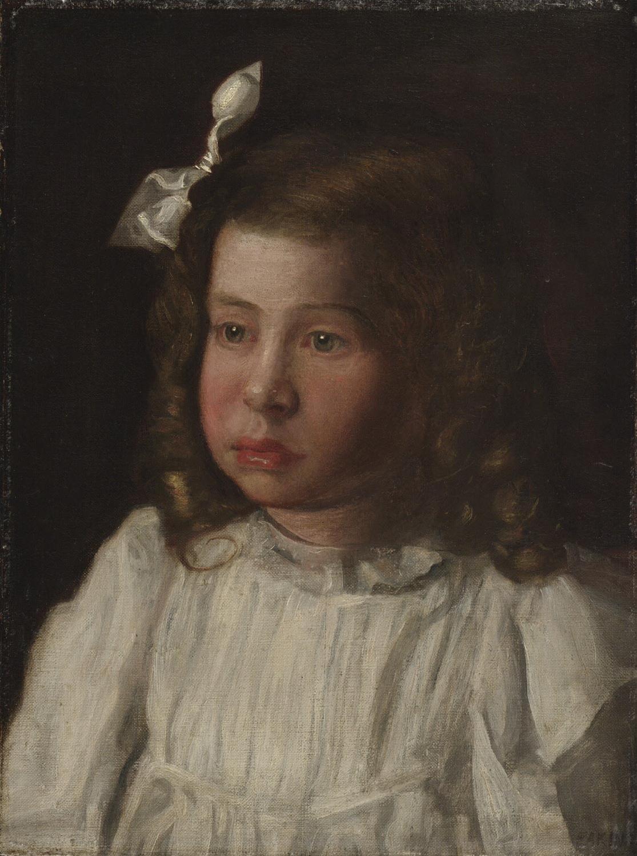 Description portrait of a little girl