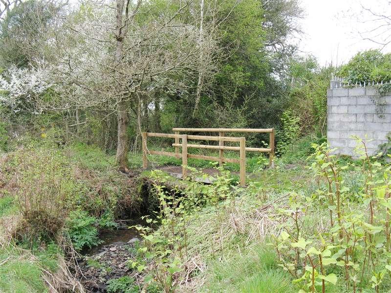 Public footpath crosses stream near Llewitha - geograph.org.uk - 2370381