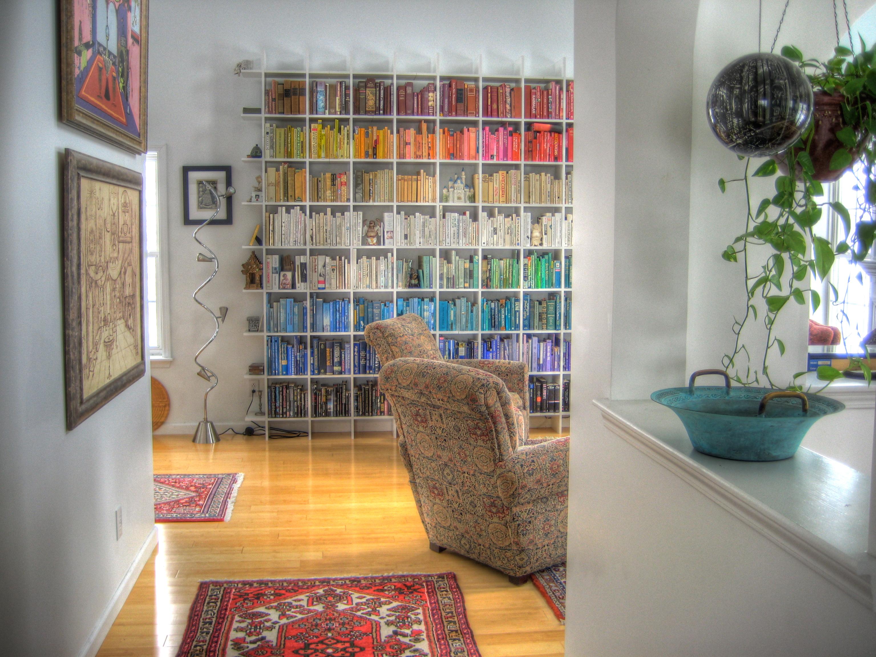 Image of rainbow shelves