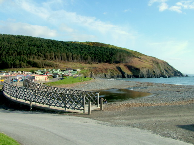 River and Cliffs at Clarech Bay - geograph.org.uk - 611135