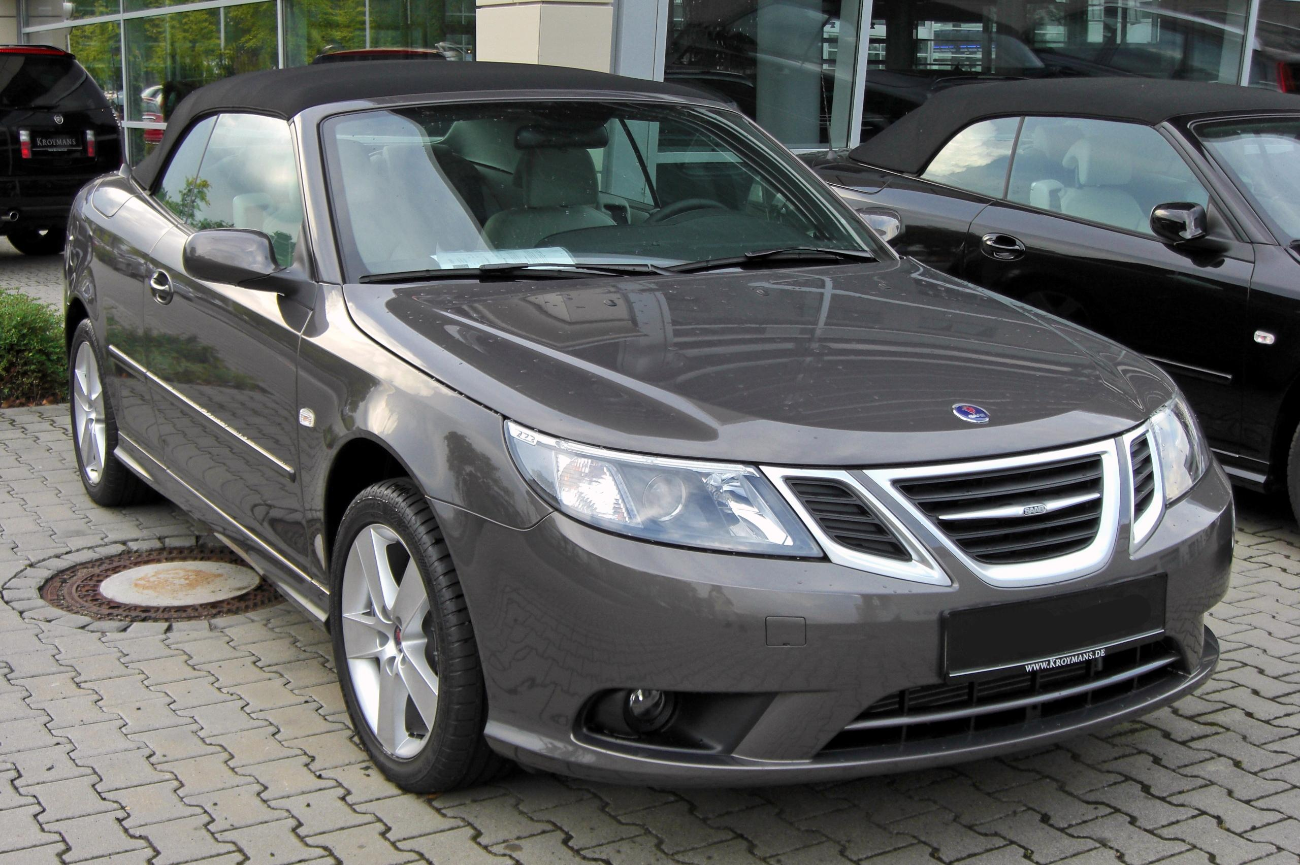 file saab 9 3 cabrio 1 9 tid facelift 20090706 front jpg. Black Bedroom Furniture Sets. Home Design Ideas