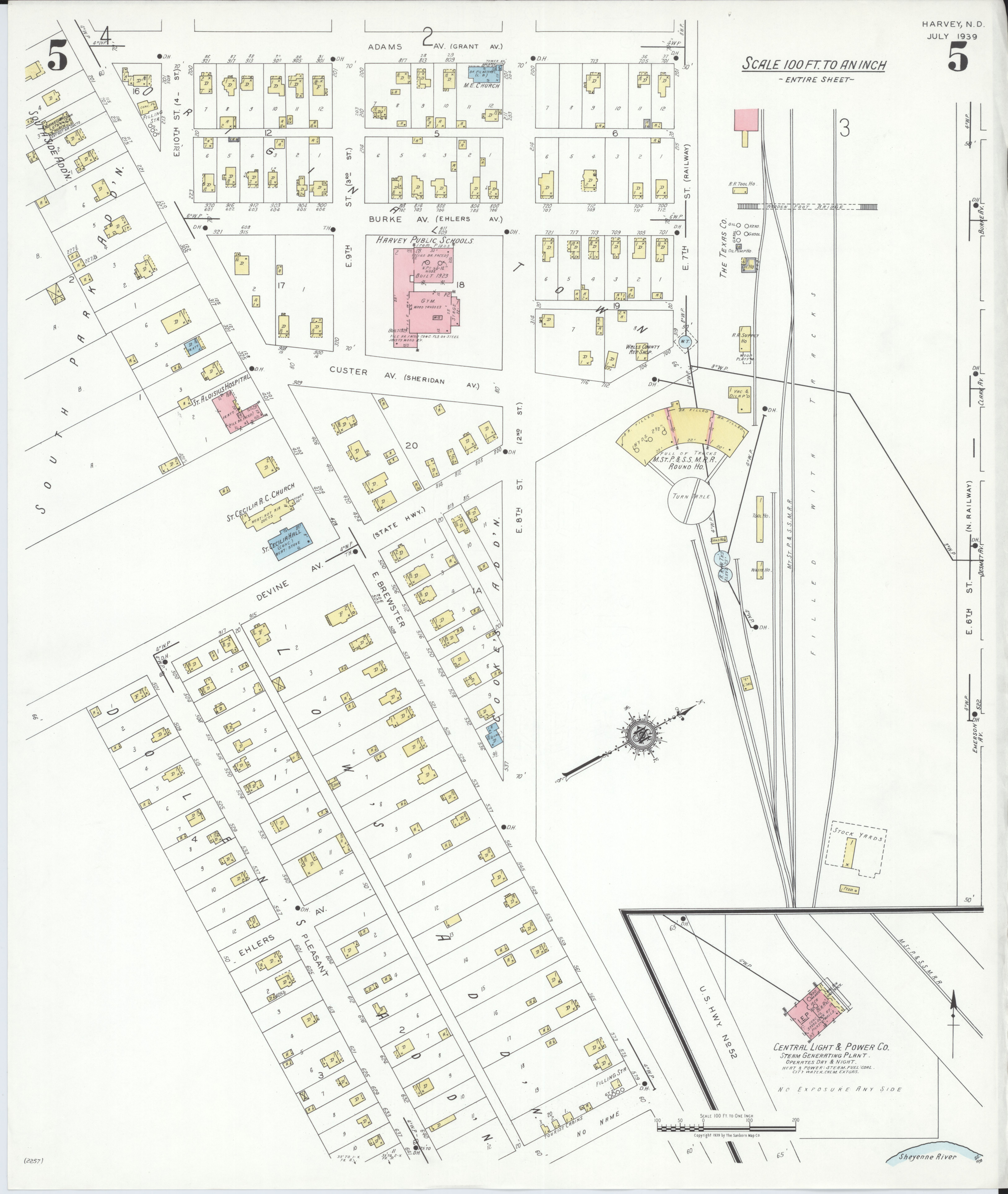 File:Sanborn Fire Insurance Map from Harvey, Wells County ...