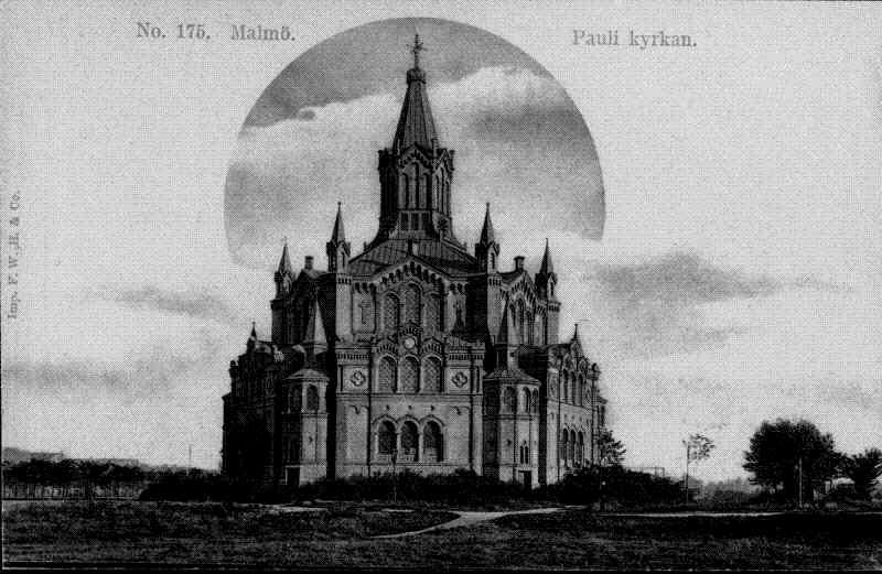 Eglise Sankt Pauli à Malmo en Suède.