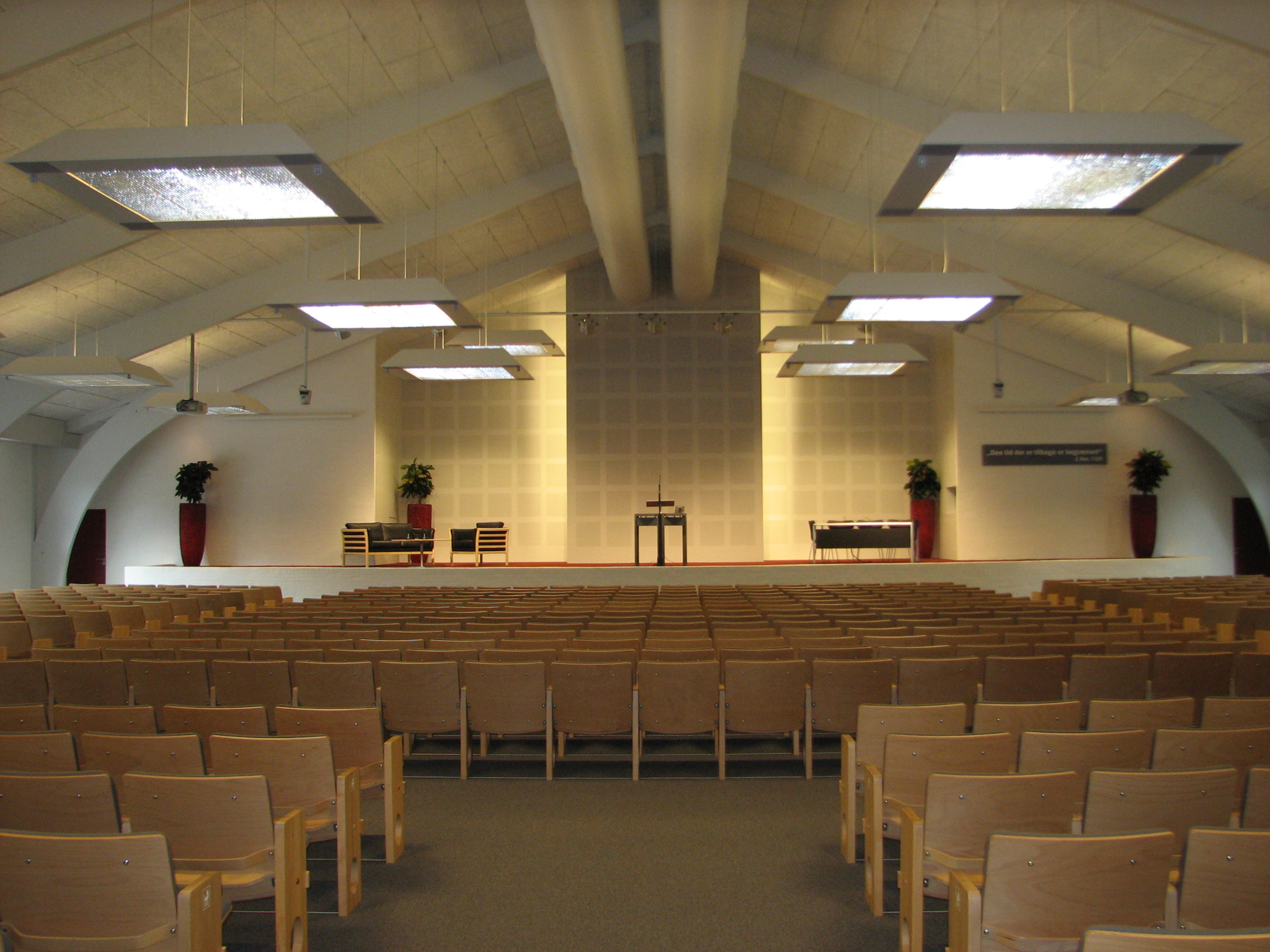 This convention hall of Jehovah's Witnesses has been newly renovated.