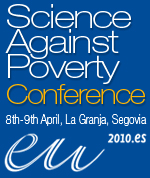 "English: banner web for ""Science against ..."