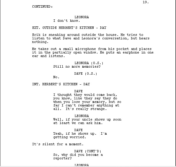 Scary Play Script