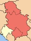 Serbia. Al sur, la provincia autónoma de Kosovo.