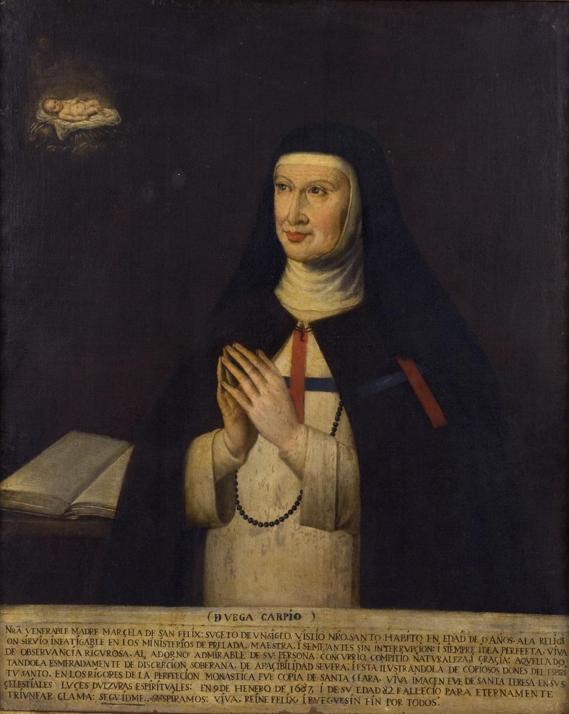Sor Marcela de San Félix. Obra anónima del siglo XVII. (Casa-Museo de Lope de Vega, Madrid).