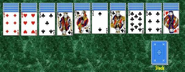 Picture of a game: Spider Solitaire