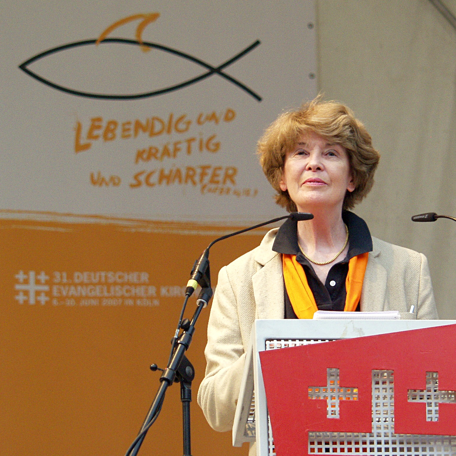 Susan George on the ''German Protestant Church Day'', Cologne, 2007