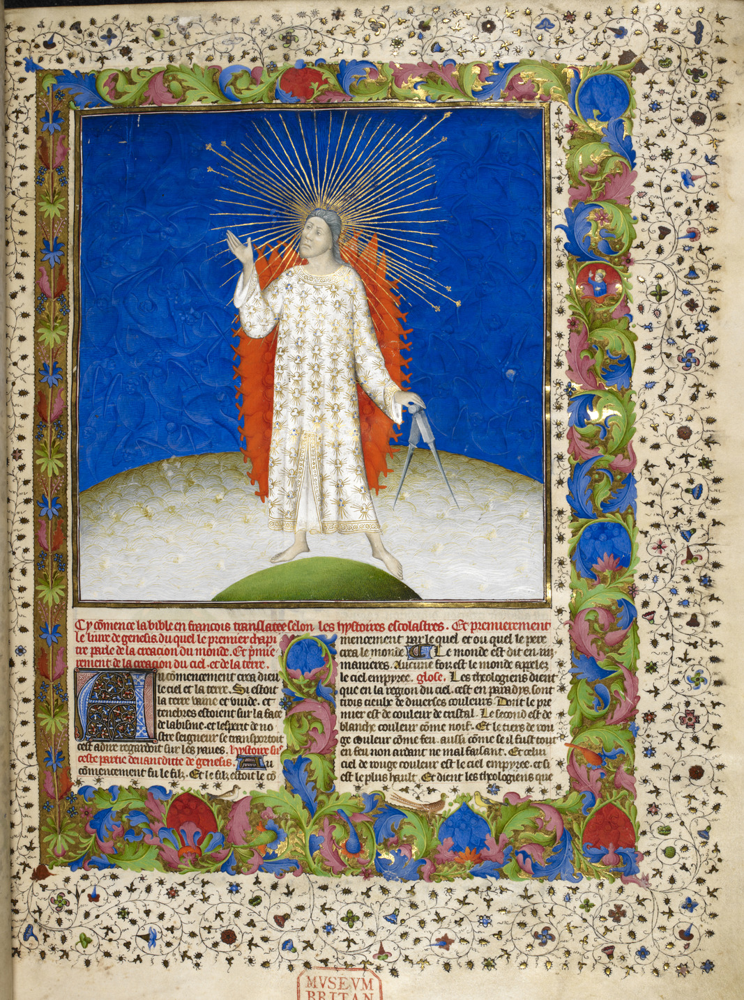 The Creation - Bible Historiale (c.1411), vol.1, f.3 - BL Royal MS 19 D III.jpg