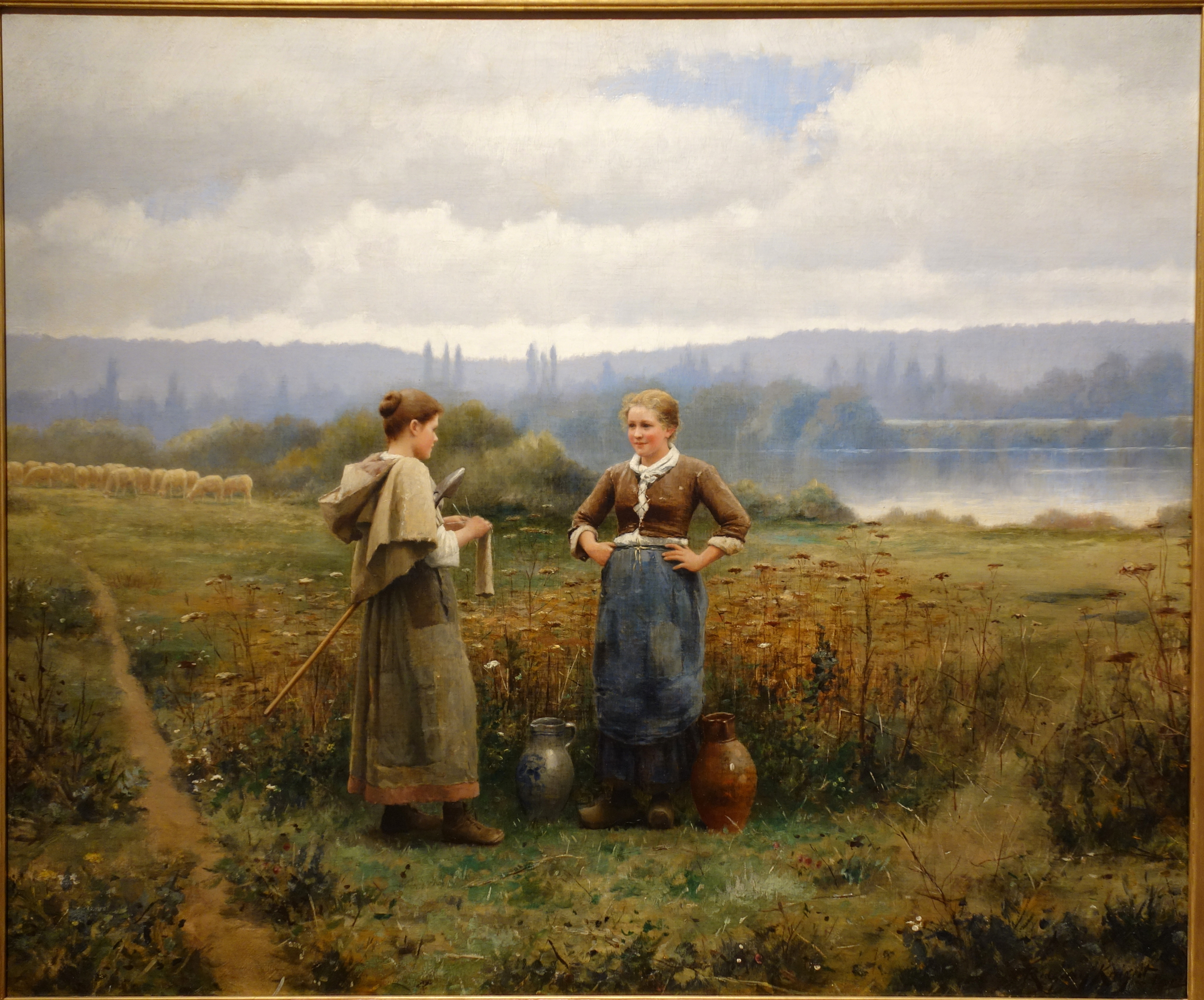 File:The Meeting by Daniel Ridgway Knight, c. 1888, oil on