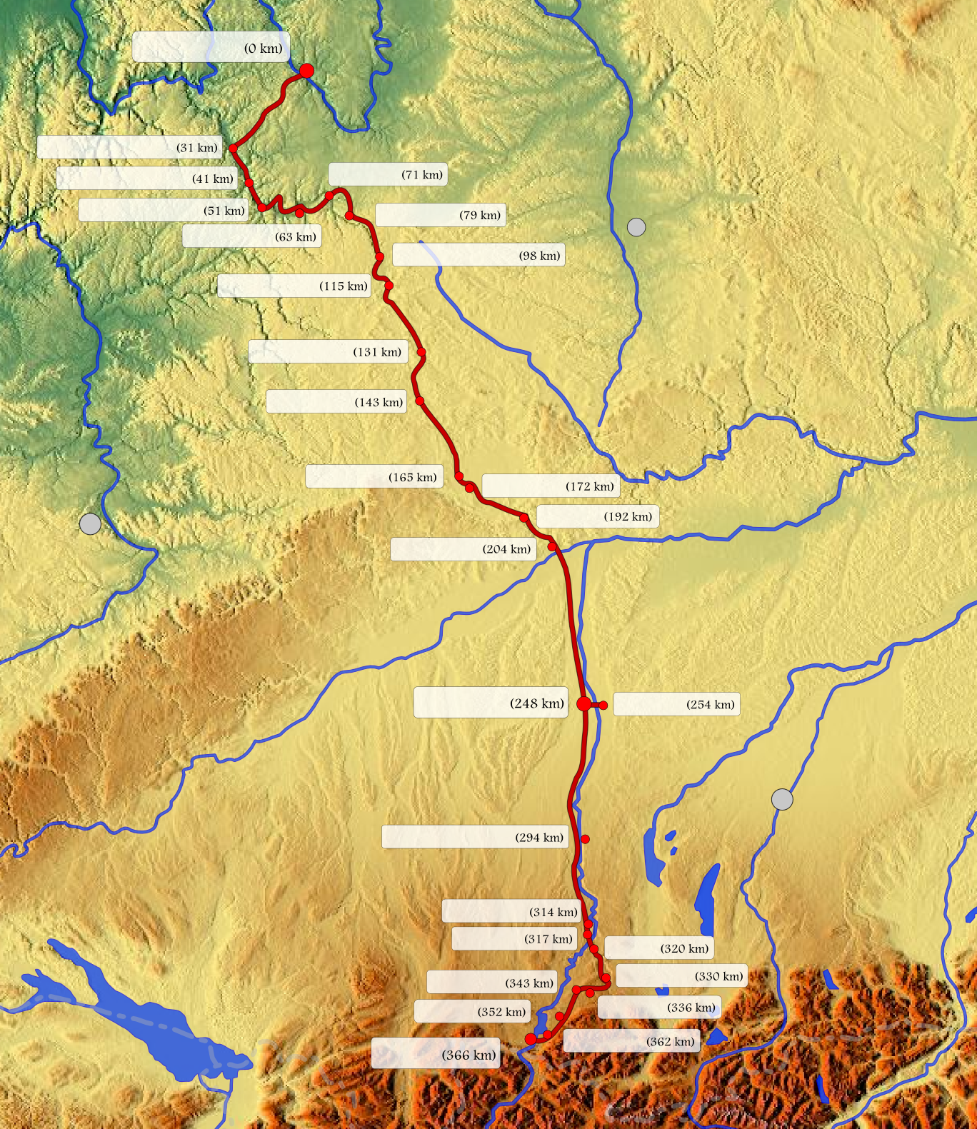 Blank Road Map: File:The Romantic Road In Germany (blank Map).png