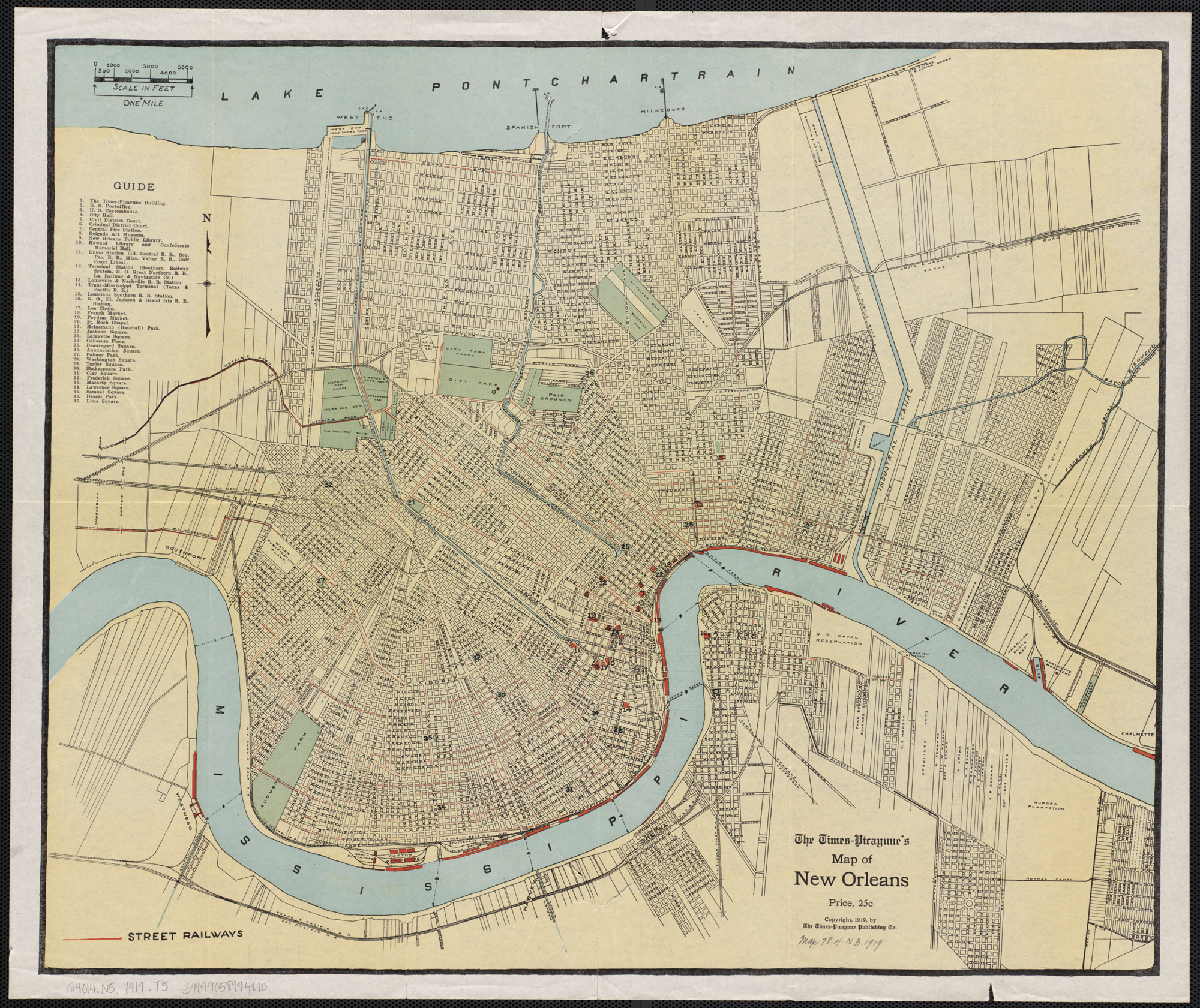 File:Times Picayune map of New Orleans 1919.   Wikimedia Commons