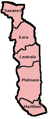 Togo-Suddivisione amministrativa-Togo Regions