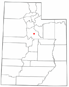 Location of Mapleton, Utah