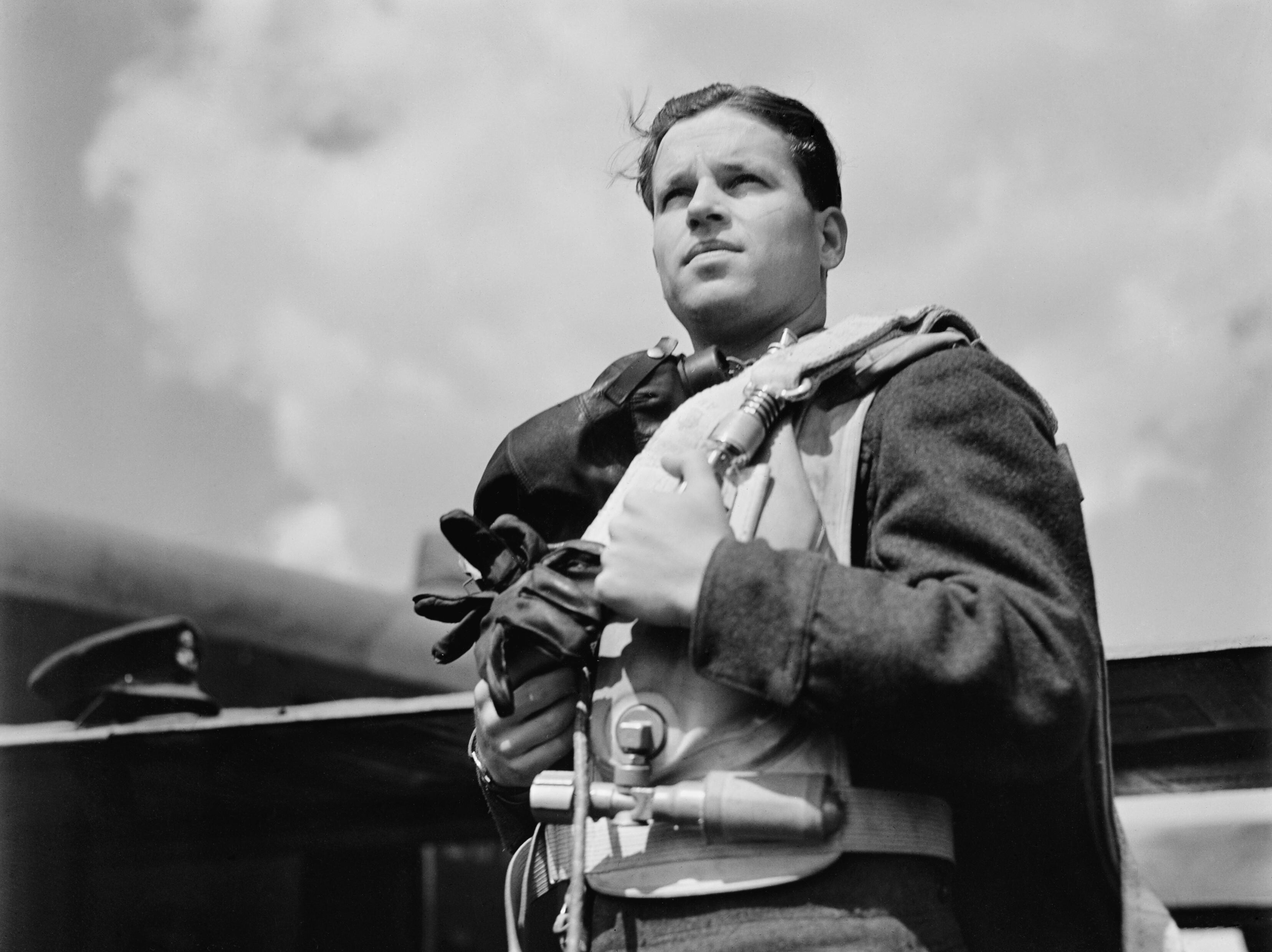 Wing Commander Guy Gibson VC, Commanding Officer of No. 617 Squadron (The Dambusters), May 1943. CH11047