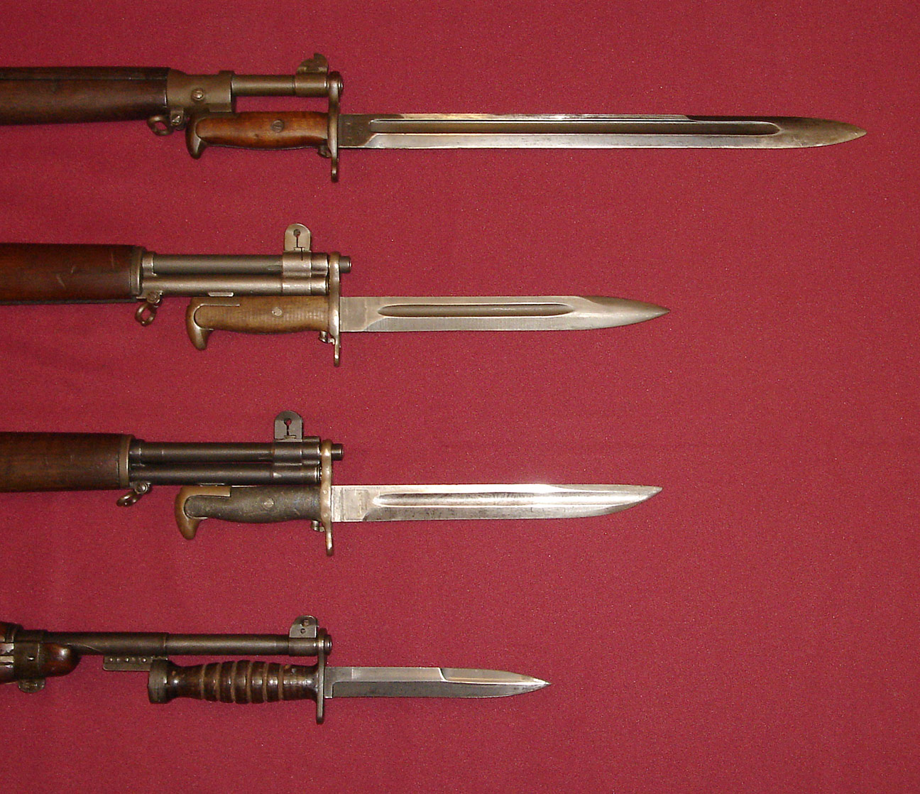 Description world war ii us military bayonets