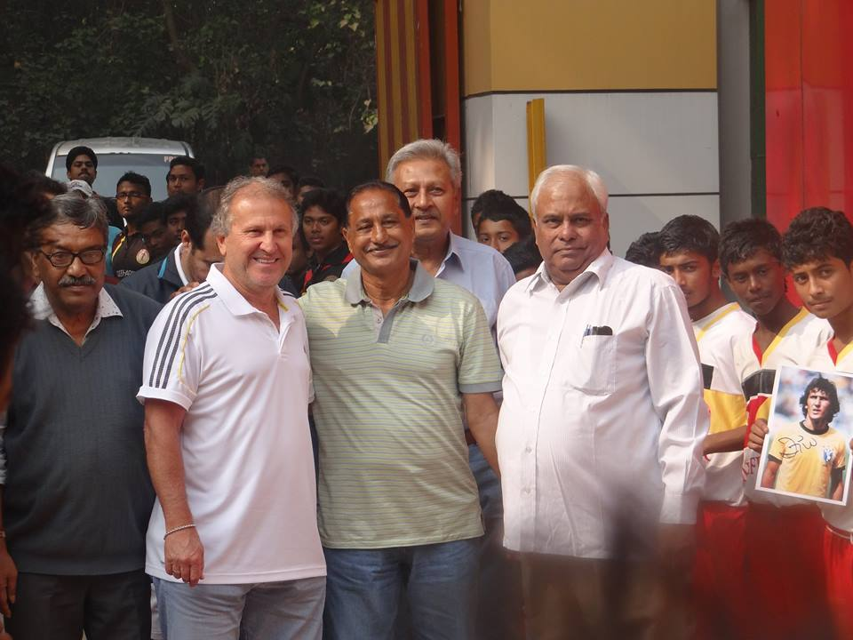 Zico in East Bengal tent with the club's coach Armando Colaco