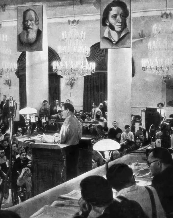 Доклад горького на первом всесоюзном съезде советских писателей 2735
