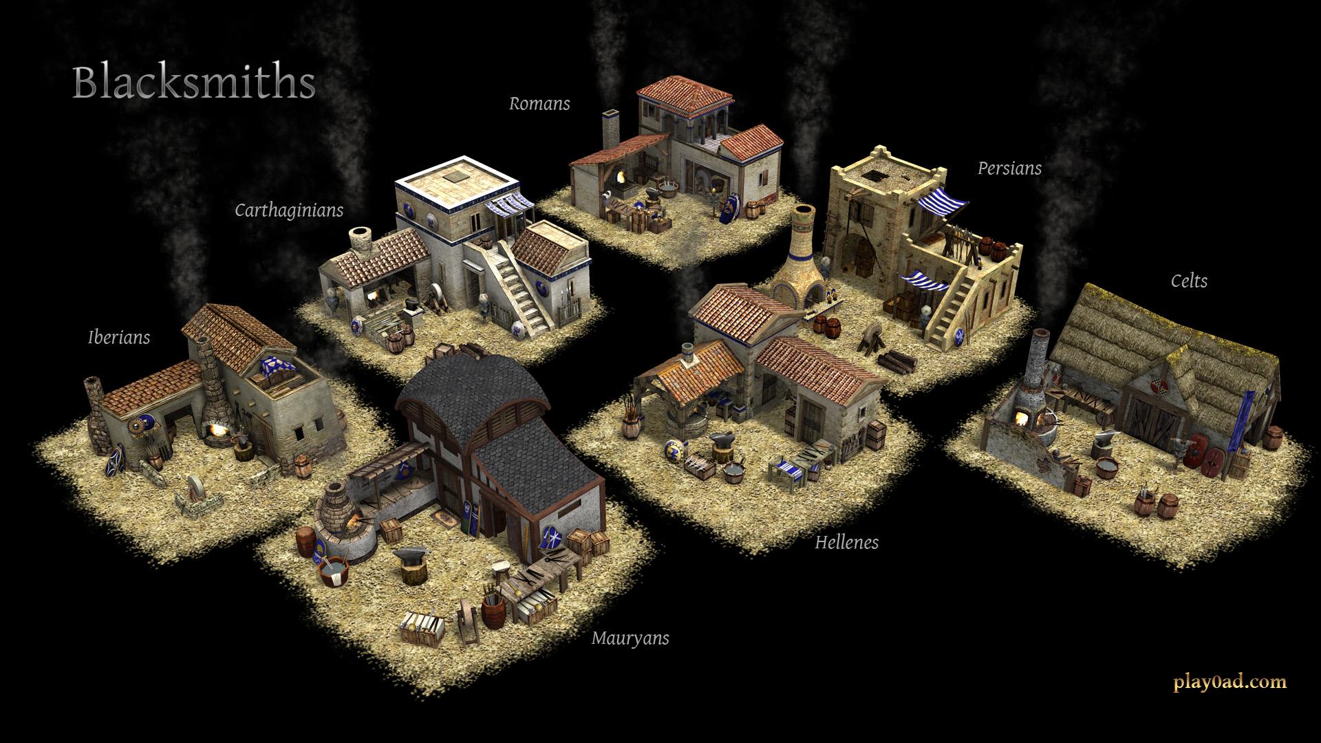 House Builder Games File 0 A D Blacksmiths Jpg Wikimedia Commons