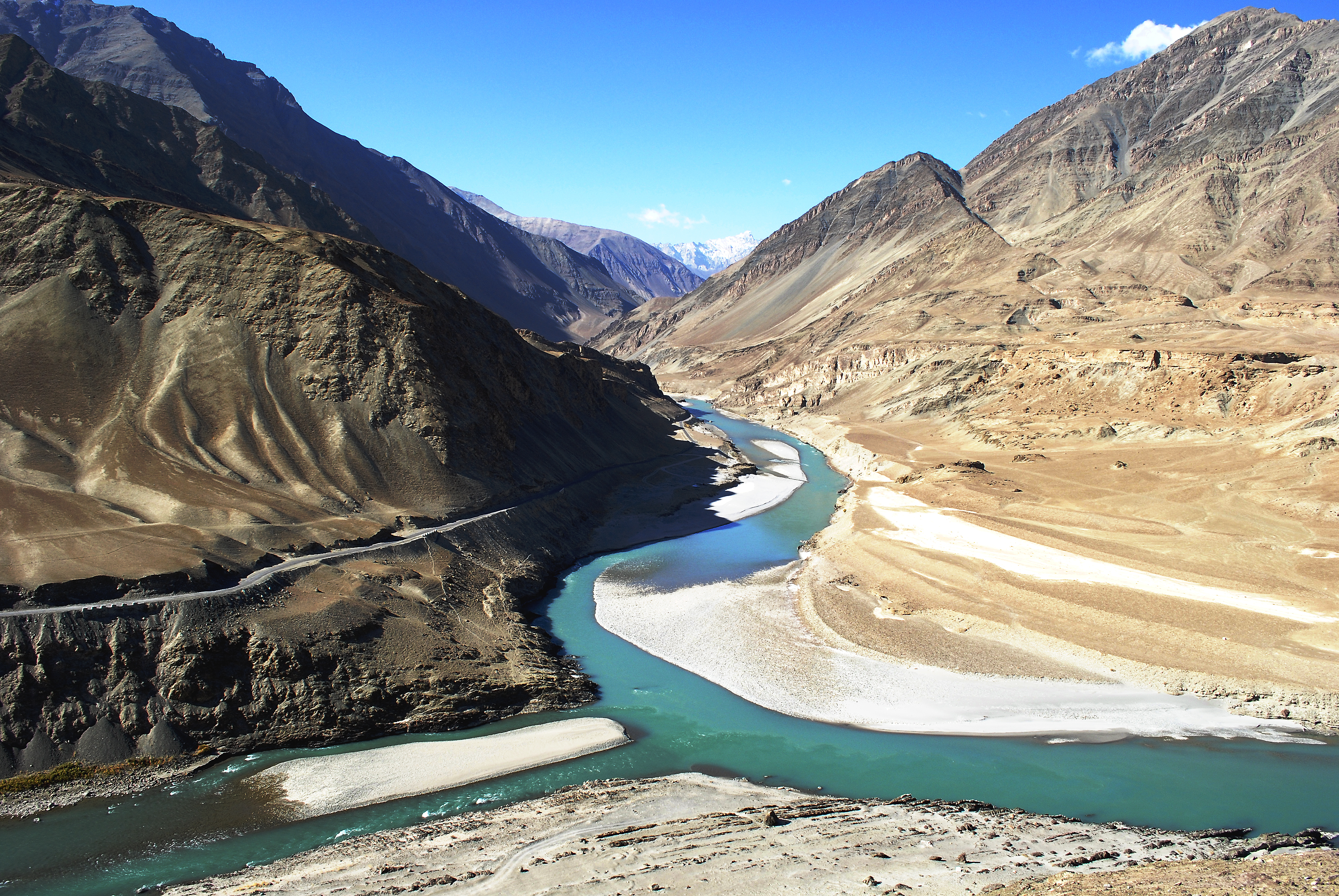wide river in india