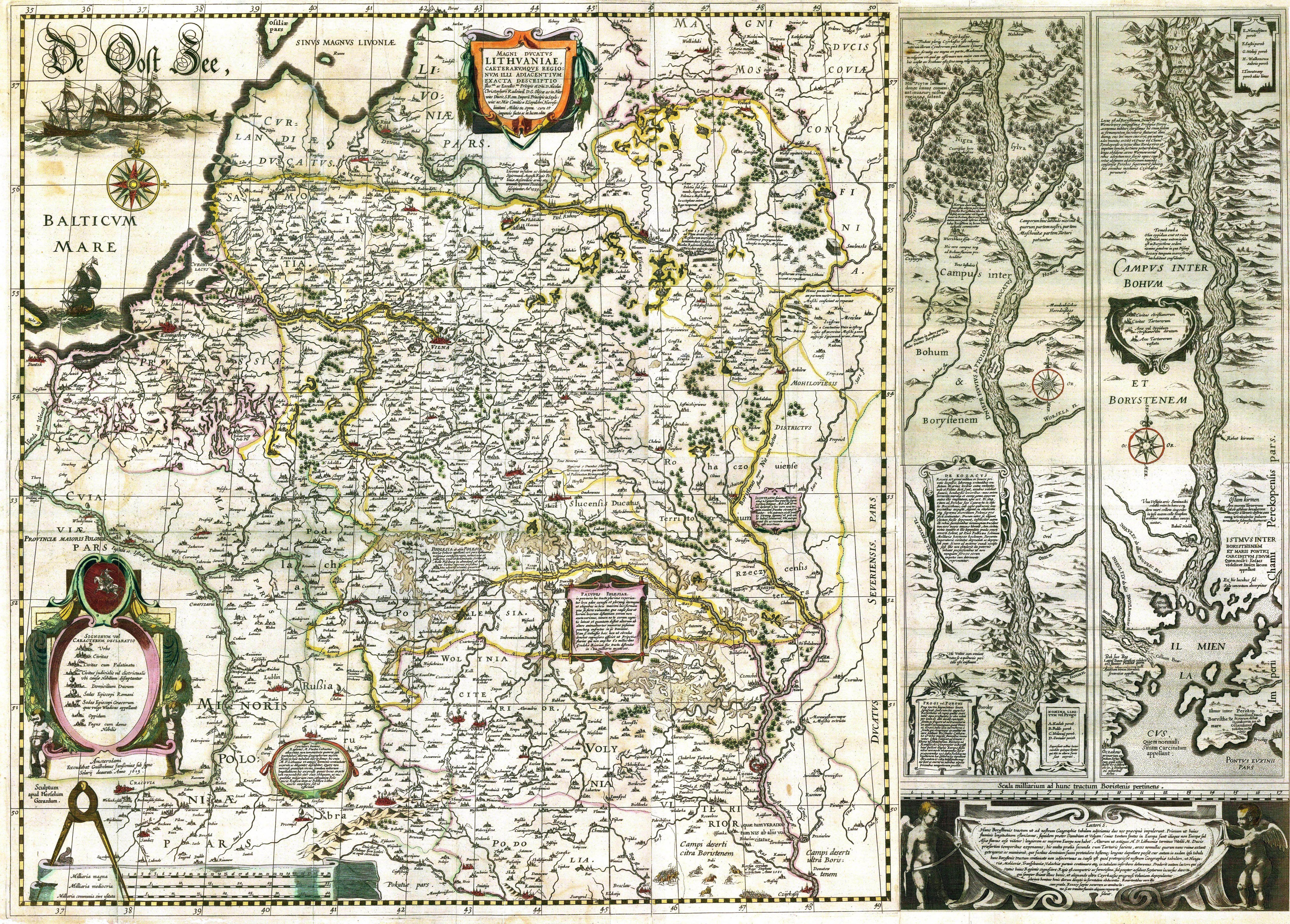 File:1613 M.K.Radvila 1613 LDK žemėlapis (Perleidinys iš Blaeu atlaso  1631m.)