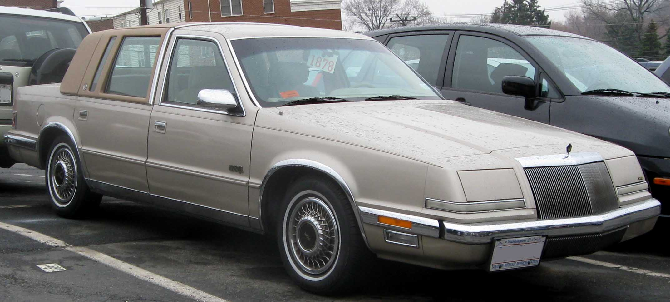 Cars you liked in the past that you now for 1990 chrysler new yorker salon