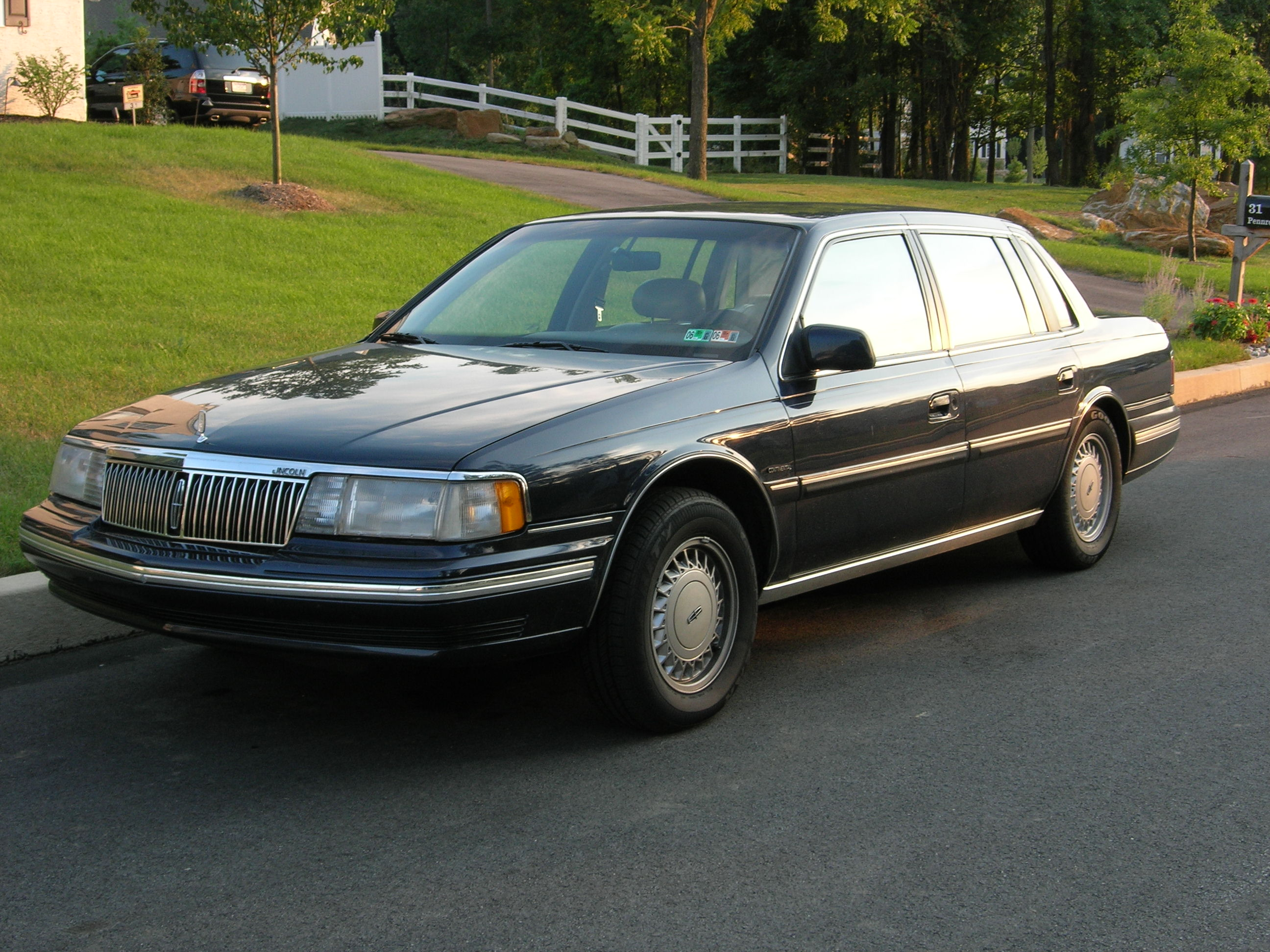 File 1991 Lincoln Continental Jpg Wikimedia Commons