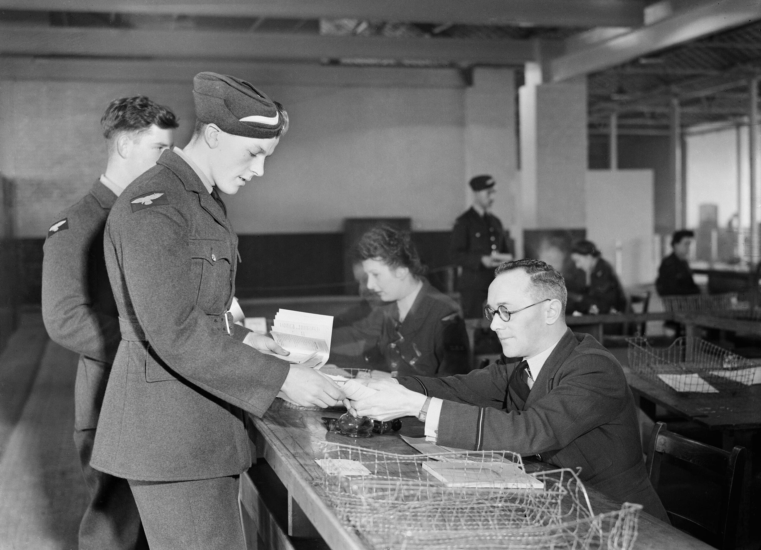 File:An aircrew cadet taking part in a demobilisation ...