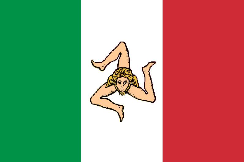Bandiera dello Stato della Sicilia (28.04.1848 - 15.05.1849)