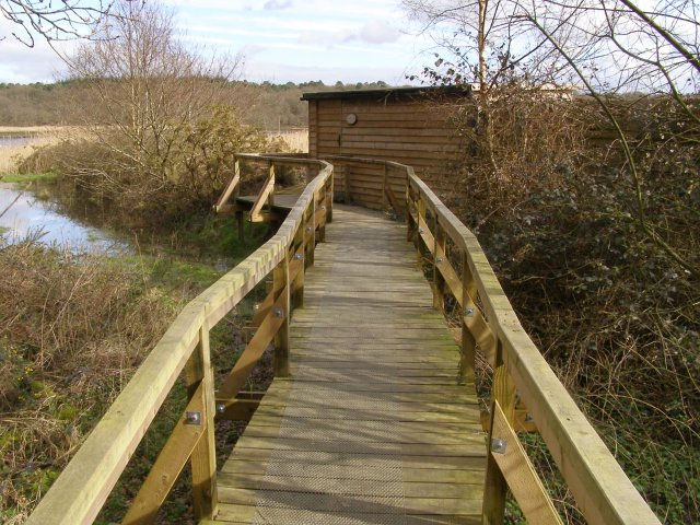 Boardwalk to Keeping Marsh birdwatching hide, Beaulieu Estate - geograph.org.uk - 346663