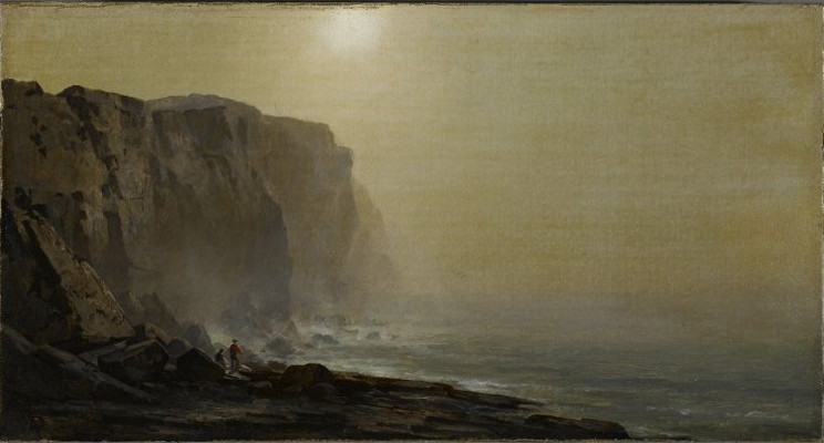 Brooklyn Museum - Misty Morning, Coast of Maine - Arthur Parton - overall.jpg