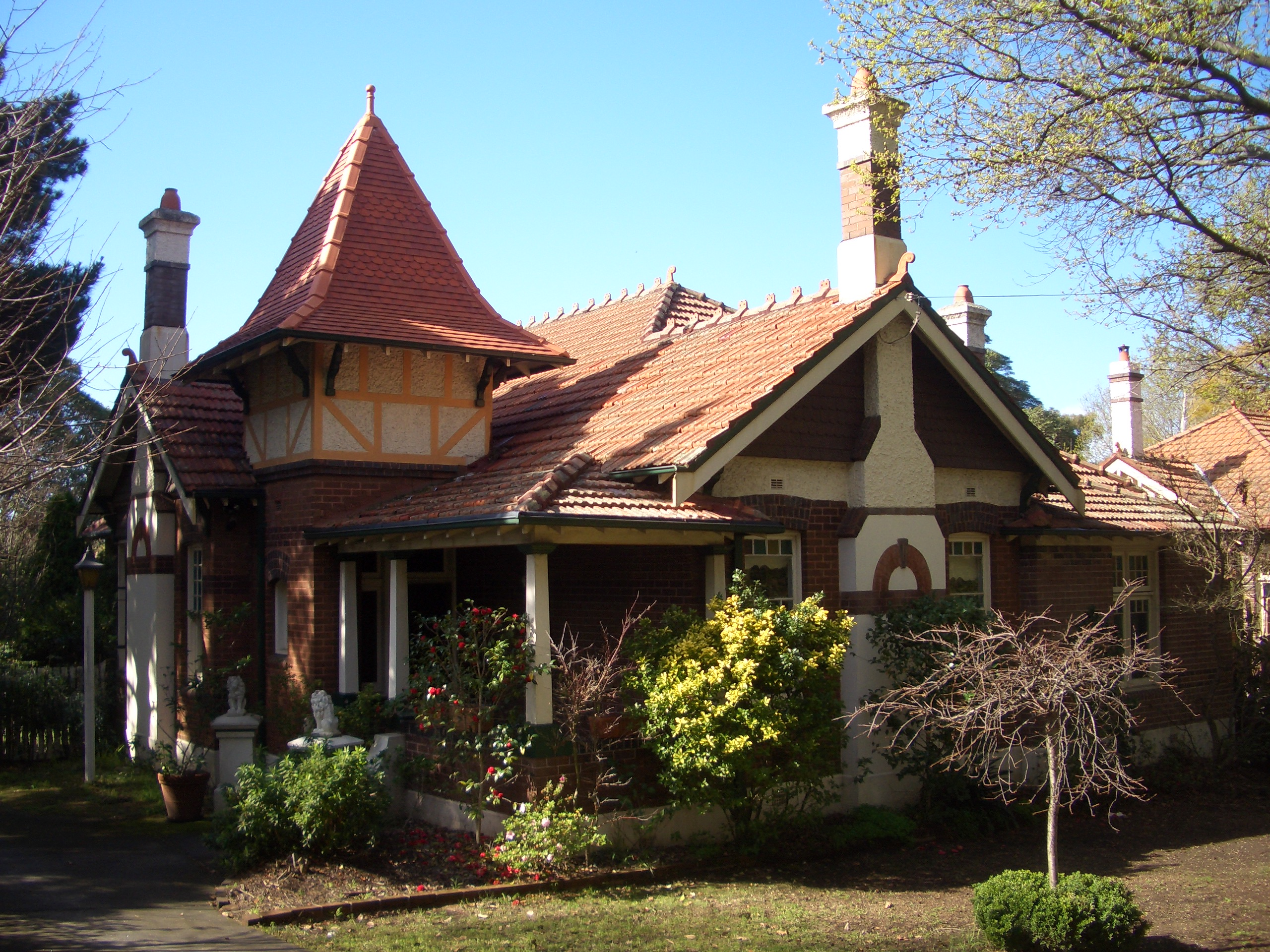 Elaborate Gothic Queen Anne designed 'Vallambrosa' 19 Appian Way, Burwood, Sydney