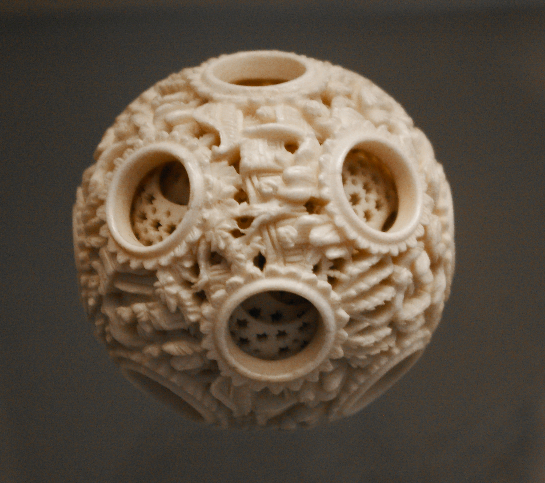File chinese ivory puzzle ball th cenntury british