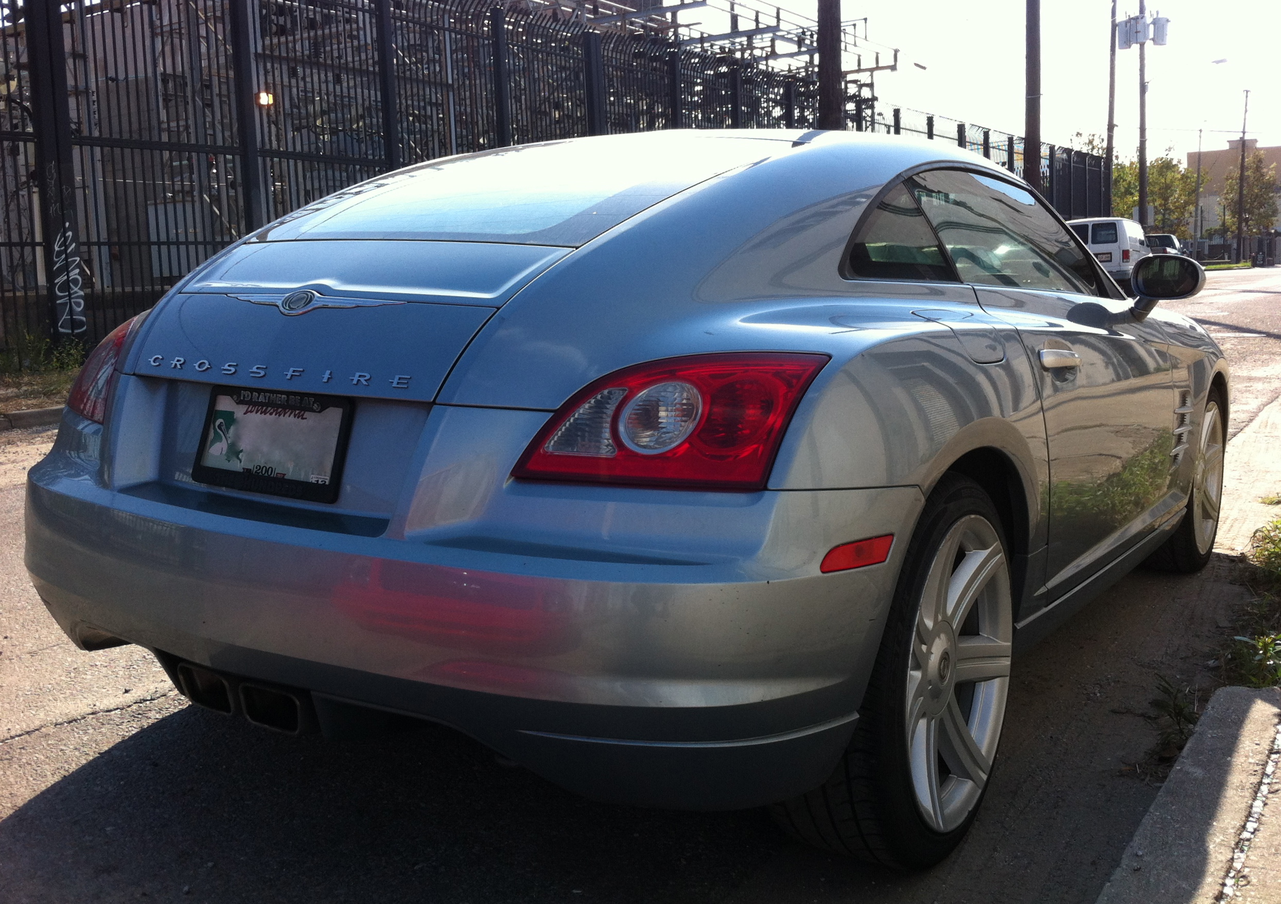 File:Chrysler Crossfire Fastback On Decatur Street In New Orleans   Rear