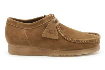 Clarks Original Wallabee Sand Combi Suede Womens Shoes