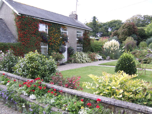 File coolaught house front garden in autumn geograph - Free garden plans ireland ...