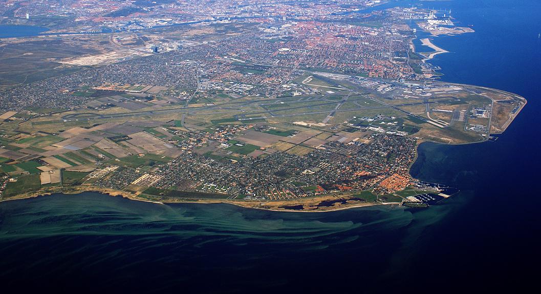 Vue aérienne sur l'aéroport de Copenhague au Danemark. Photo: Mogens Engelund