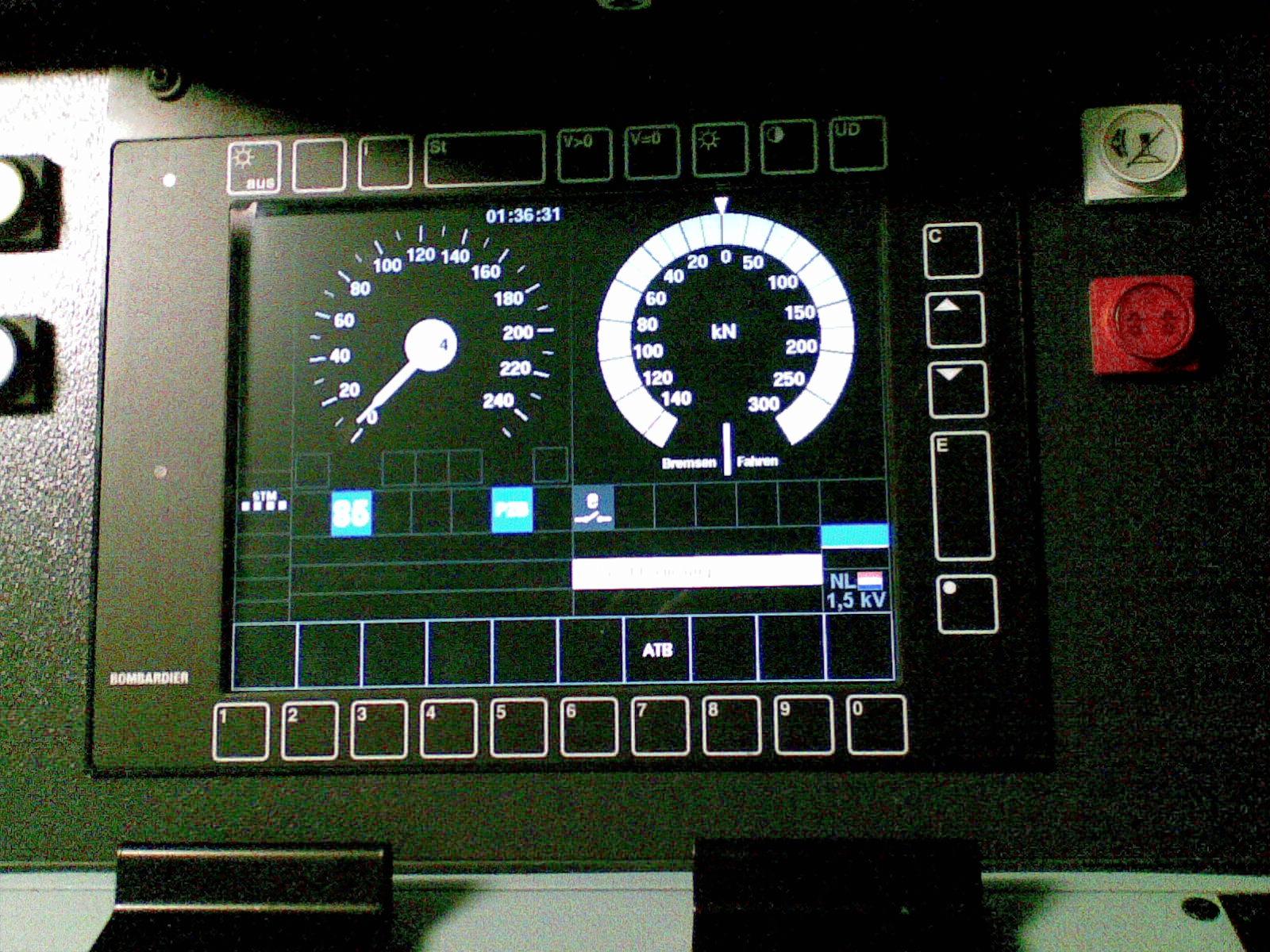 European Train Control System Wikipedia Dutch Door Wiring Diagram Etcs Driver Display In Stm Mode For Class B Atb Eg