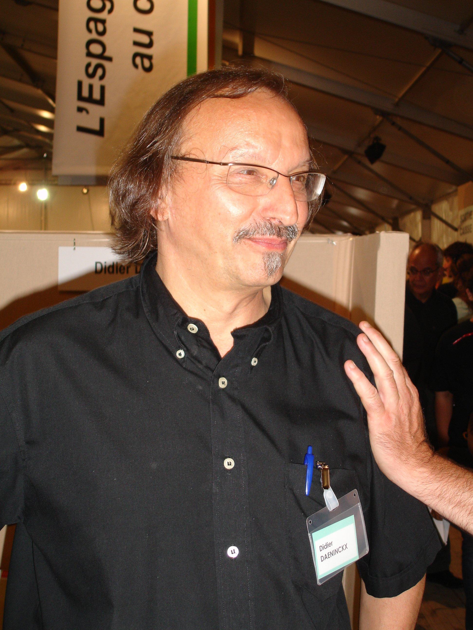 Didier Daeninckx at the [[Fête de l'Humanité