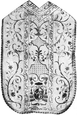 EB1911 Chasuble - Fig. 5.—Modern Roman Chasuble of Archbishop Bourne of Westminster.jpg