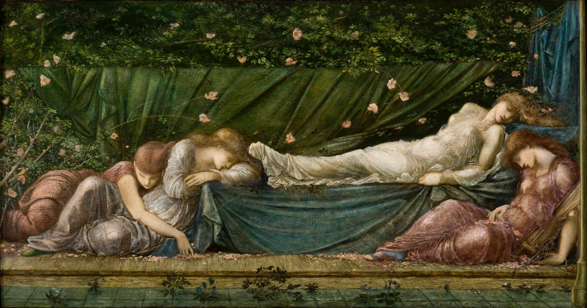 Image result for sleeping beauty burne jones