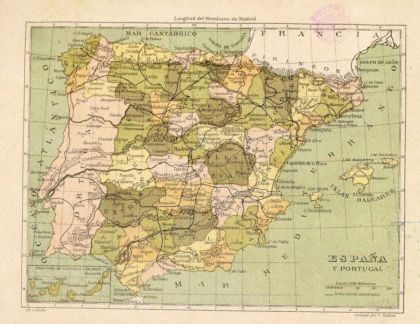 España provincial en 1850