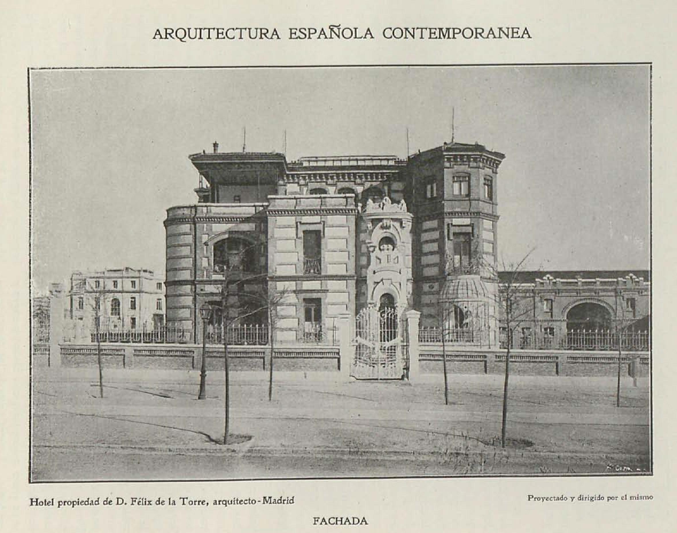 File fachada hotel propiedad de f lix de la torre for Arquitectura y construccion