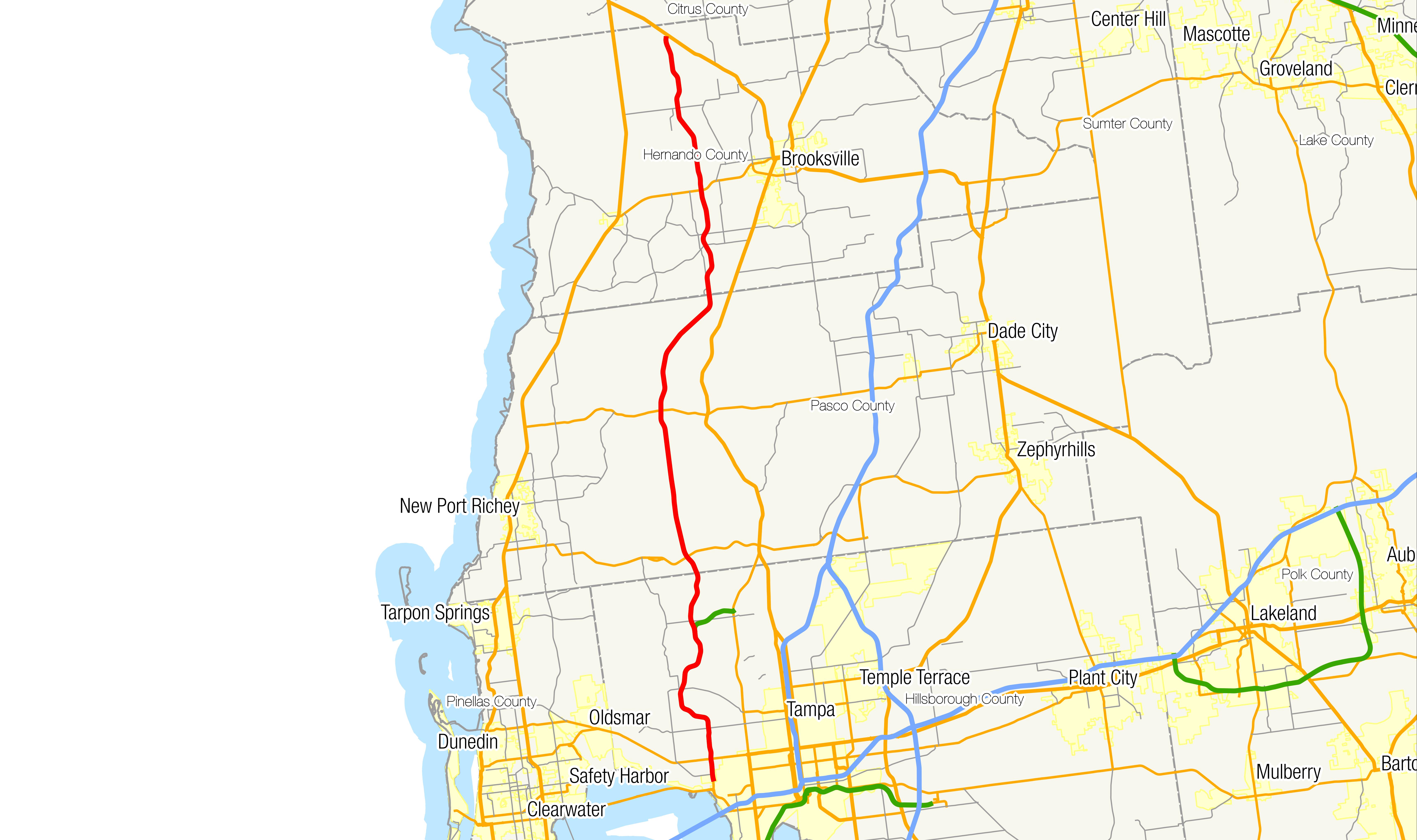 Florida State Road  Wikiwand - Florida map dunedin