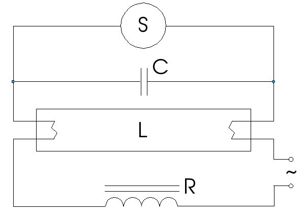 circuit diagram of fluorescent tube light circuit file fluorescent lamp classic power circuit on circuit diagram of fluorescent tube light