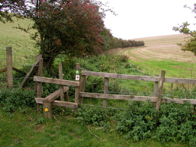 Footpath Stile - geograph.org.uk - 244071