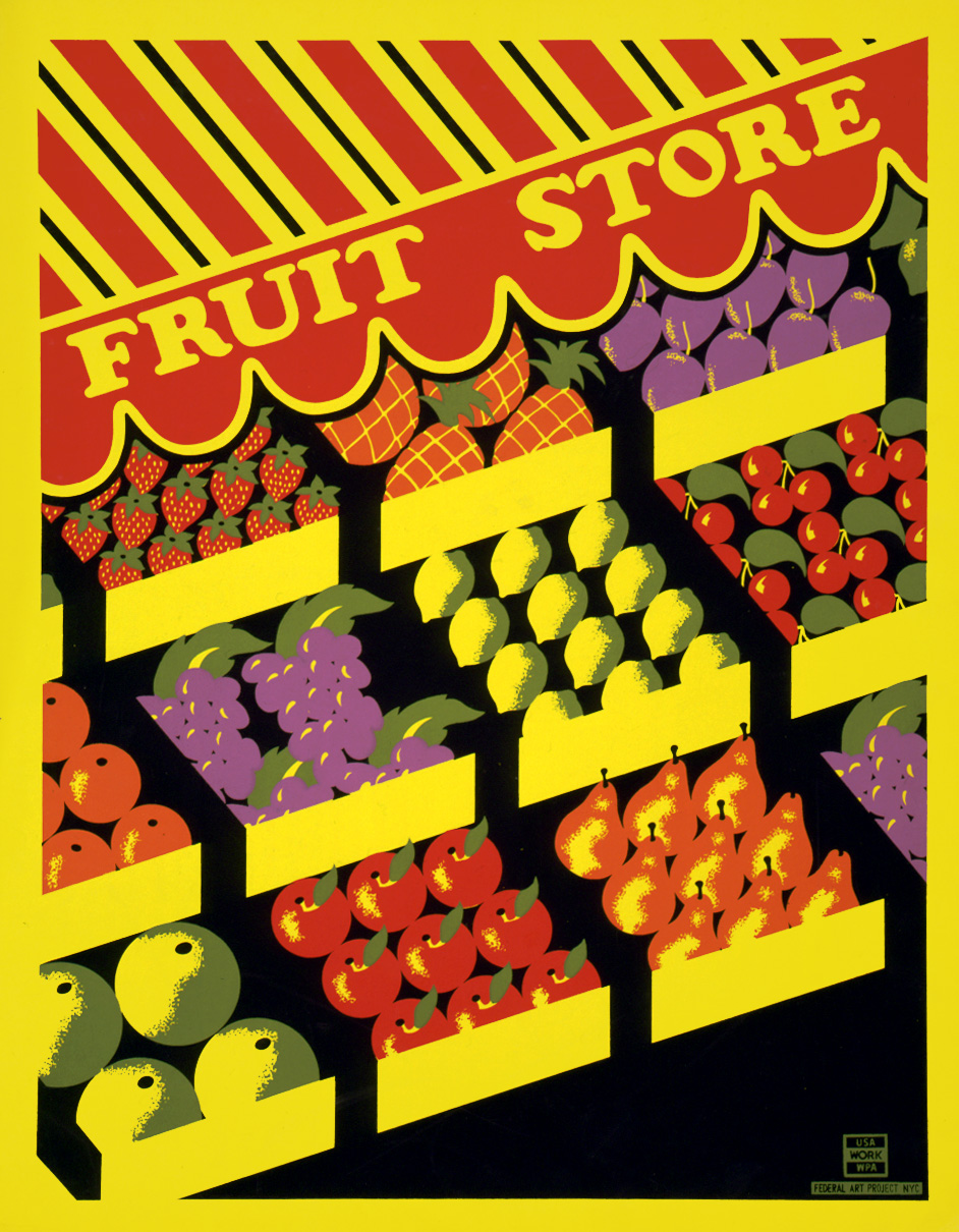 Fruit Store Wpa Poster Ca